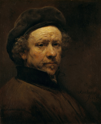 Rembrandt Harmenszoon van Rijn. Self portrait at the age of 51 years