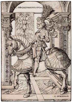 Ханс Бургкмайр Старший. Конный портрет императора Максимилиана