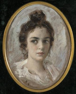 Портрет женщины, возможно Якунчиковой. Этюд