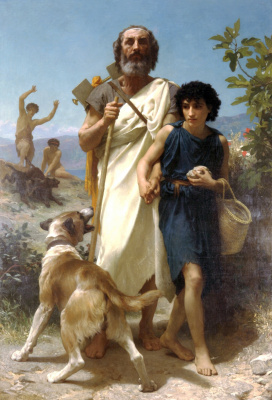 William-Adolphe Bouguereau. Homer and his guide