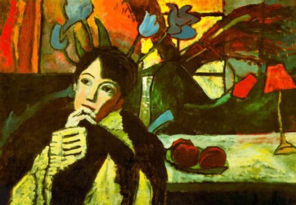 Gabriele Münter. Pensive woman