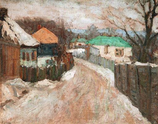 Николай Григорьевич Бурачек. Rural street