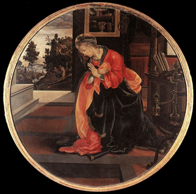 Filippino Lippi. Our lady of the Annunciation