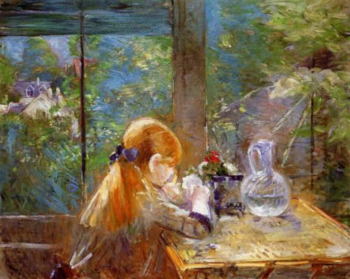 Berthe Morisot. On the veranda