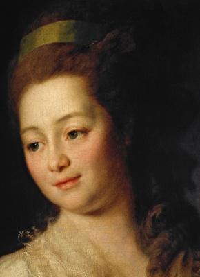 Dmitry Grigorievich Levitsky. Portrait Of Maria Alexeevna Dyakova. Fragment