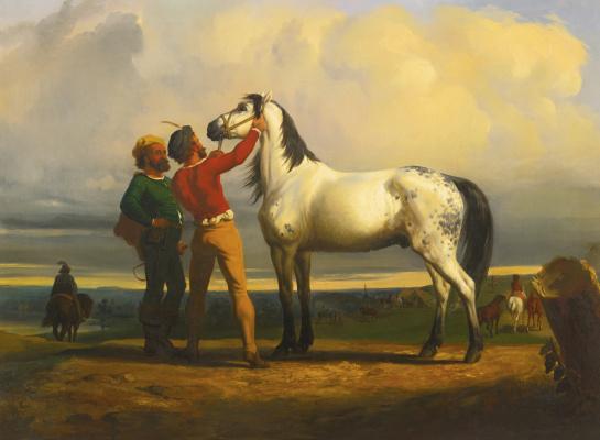 Rose Bonhur. Market horses: Black horse