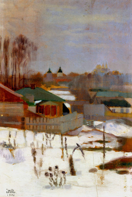 Mikhail Ivanovich the Beetle. Winter landscape