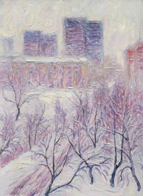 Alexey Vladimirovich Konstantinov. Snow in Moscow