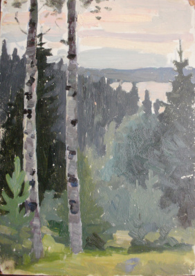 Nina Vasilievna Sedova. Above a river