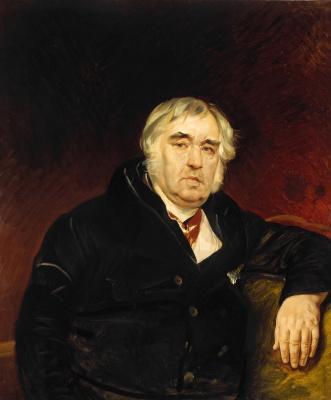 Karl Pavlovich Bryullov. Portrait of the fabulist Ivan Andreevich Krylov