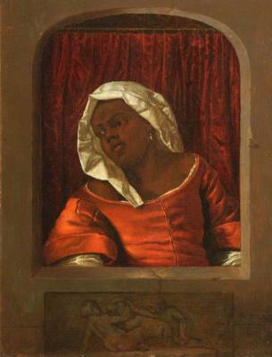 Gabrielle Metsu. Portrait of black girl