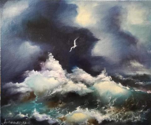 Olga Yuryevna Serebrova-Artes. Sea