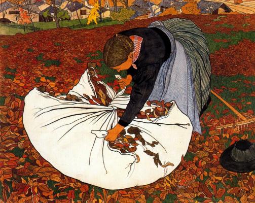 Эрнест Билер. Осенние листья