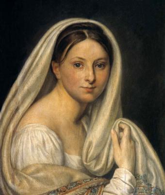 Alexander Grigorievich Varnek. Portrait of Maria Ivanovna Varnek, born Chegovets (1796-1858), the artist's wife. State Russian Museum, St. Petersburg