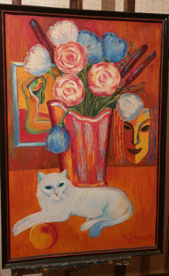 Robert Patwakanovich Gyulazyan. Still life with a cat