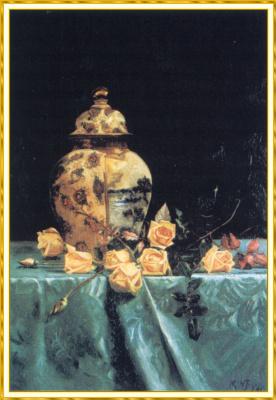 Марта Нейкед. Натюрморт с желтыми розами