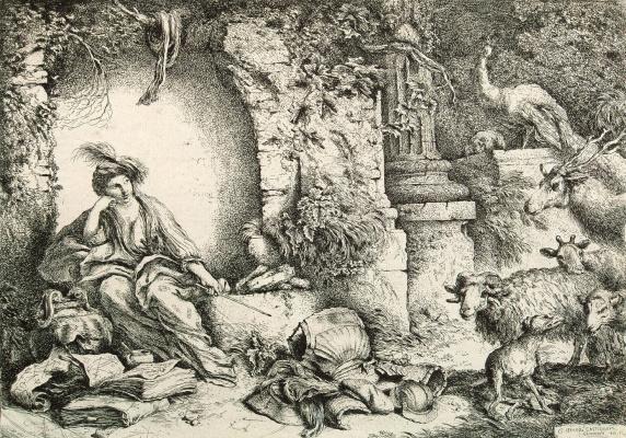 Цирцея, превращающая спутников Одиссея в животных