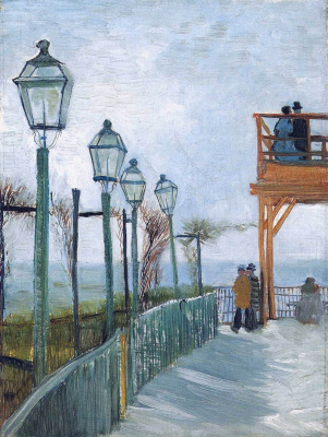 Vincent van Gogh. Montmartre near the upper mill