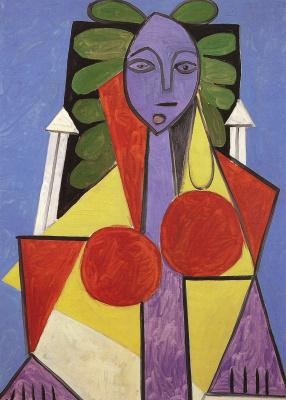 Пабло Пикассо. Женщина в кресле. Портрет Франсуазы Жило