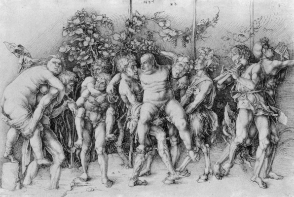 Albrecht Durer. Bacchanal with Silenus