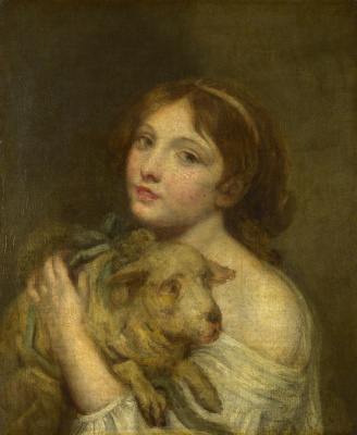 Jean-Baptiste Dreams. Girl with lamb