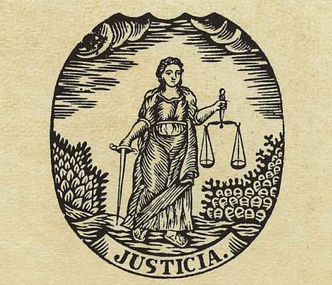 Ксилограф из печатни Эстивиль в Барселоне. Юстиция
