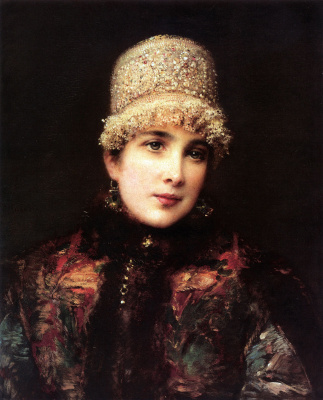 Konstantin Makovsky. Russian beauty in a kokoshnik