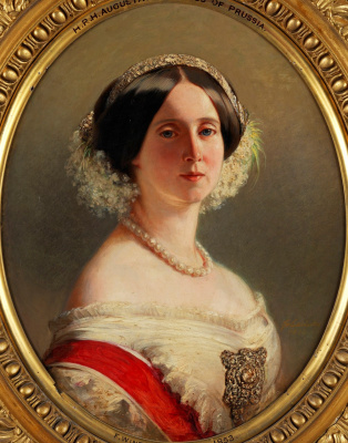 Franz Xaver Winterhalter. August of Saxe-Weimar, Princess of Prussia (1811-1890), later Queen of Prussia and German Empress