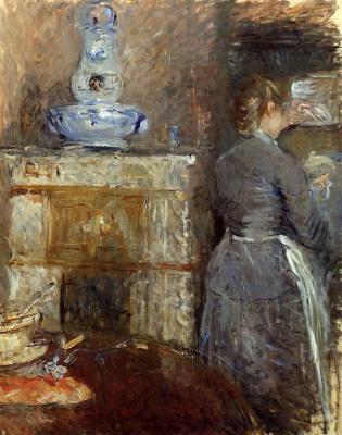 Berthe Morisot. Dining room family Ruar, street Eylau