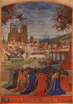 Jean Fouquet. The descent of the Holy spirit on believers