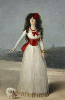 Portrait of Maria Teresa Cayetana de Silva, Duchess of Alba