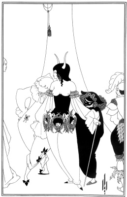Aubrey Beardsley. Mask of the Red Death