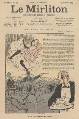 """Теофиль-Александр Стейнлен. Иллюстрация для журнала """"Мирлитон"""" № 97, 17 февраля 1893 года"""