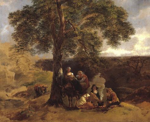 Thomas Gainsborough. Landscape with Gypsies