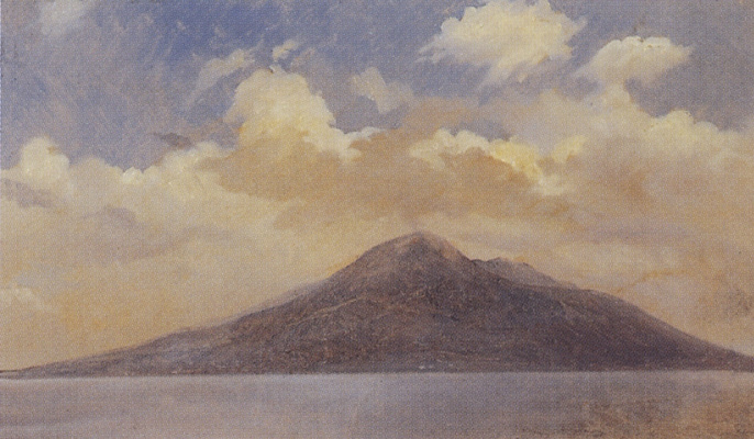 Nikolai Nikolaevich Ge. The view of Vesuvius in Vico