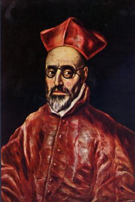 Domenico Theotokopoulos (El Greco). The cardinal Inquisitor don Fernando Nino de Guevara, fragment
