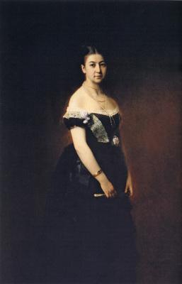 Алексей Алексеевич Харламов. Портрет Е. А. Третьяковой. 1875