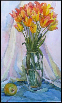 Lilia Georgievna Evsyukova. Yellow tulips