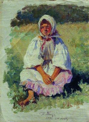Илья Ефимович Репин. Крестьянская девочка