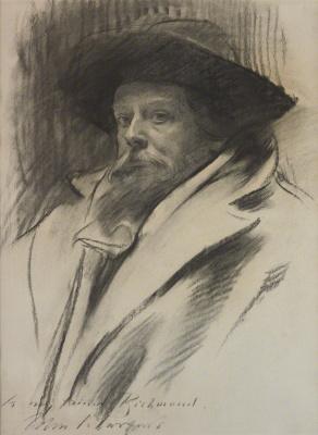 John Singer Sargent. Portrait of sir William Blake Richmond