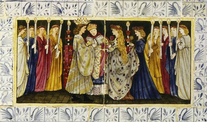 William Morris. Sleeping Beauty (Together with Edward Burne-Jones). Panel 9