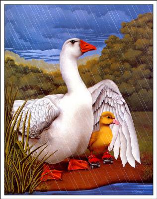 Ричард Мантел. Под дождем