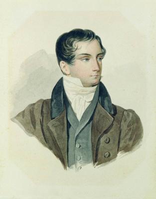 Петр Федорович Соколов. Портрет Д.В.Веневитинова. 1827
