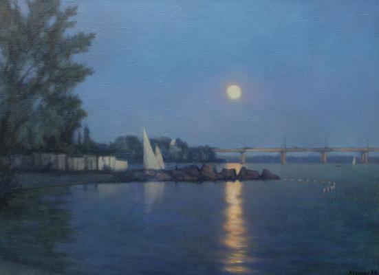 Александр Владимирович Кусенко. Moonrise on the Dnieper