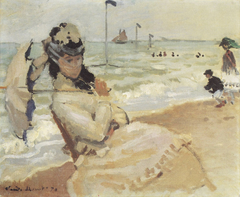 Claude Monet. Camille on the coast of Trouville