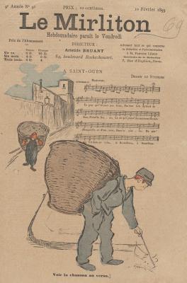 """Теофиль-Александр Стейнлен. Иллюстрация для журнала """"Мирлитон"""" № 96, 10 февраля 1893 года"""