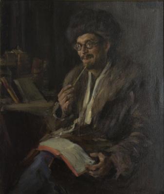 Pavel Petrovich Benkov. Portrait of art historian Kansky