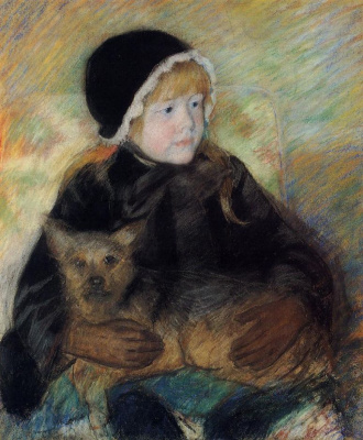 Mary Cassatt. Cassatt Ellen with a big dog