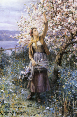 Дэниел Риджуэй Найт. Сбор яблоневого цвета