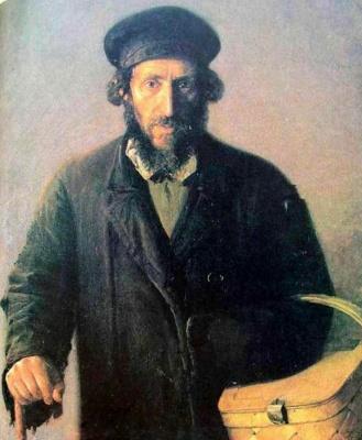 Yudel Pen. Man with basket (Shames)